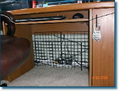 Flexible storage wire boxes as indoor bunny pens